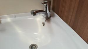 Waschbecken im Bad des Wohnmobils