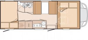 Grundriss des Wohnmobils