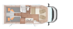 CaraLoft 650 Wohnmobil-Grundriss